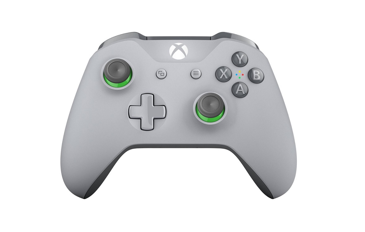 Microsoft Wireless Controller Grey/Green For Xbox One And Pc WL3-00060