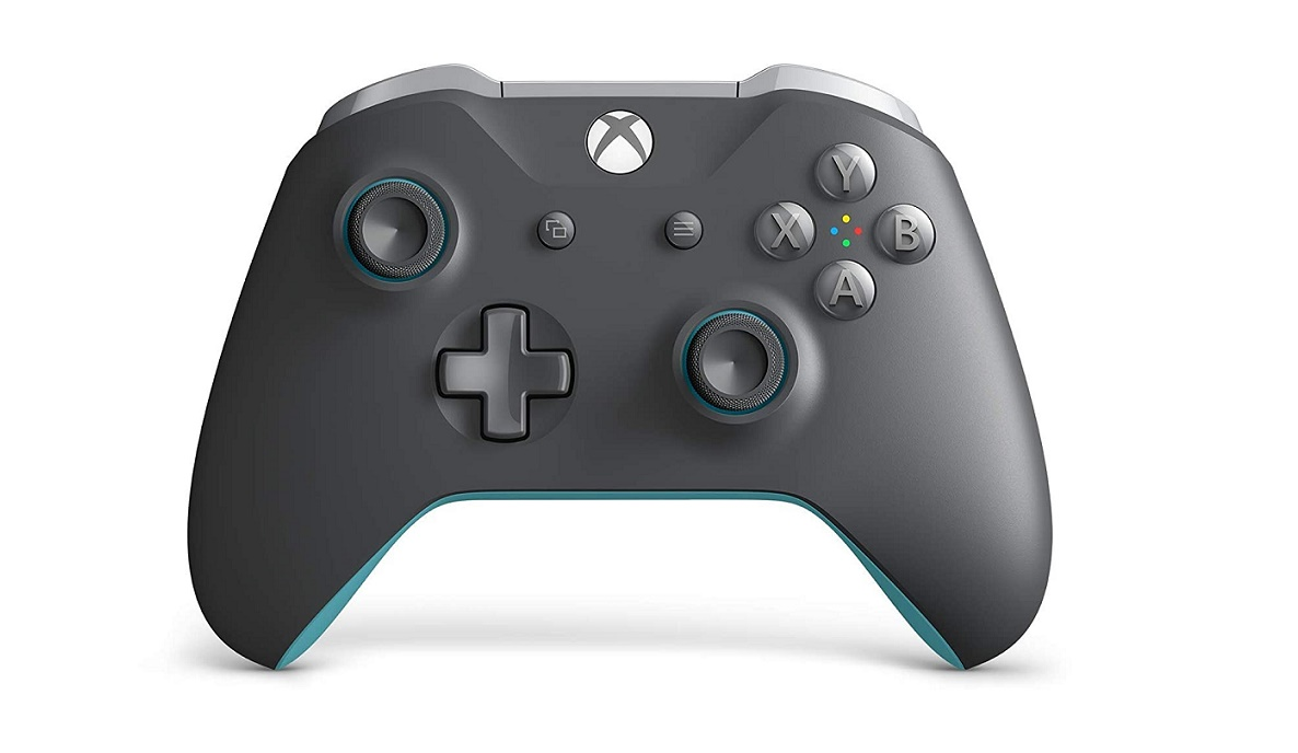 Microsoft Wireless Controller Grey Blue For Xbox One And Pc WL3-00105
