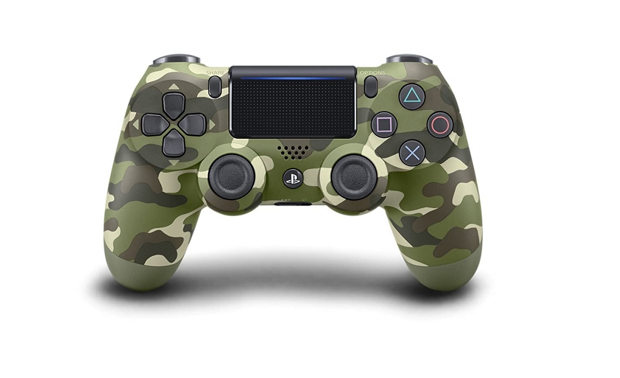 Sony Dualshock 4 Wireless Controller For Playstation Green Camouflage 3001545