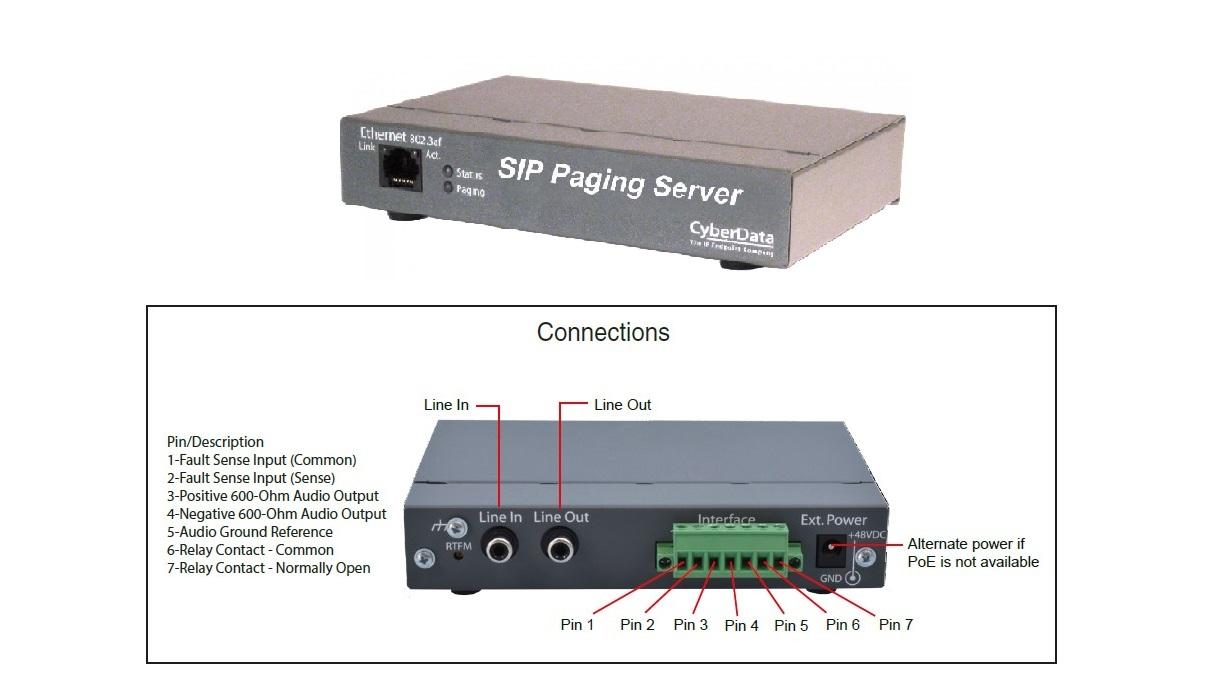 Cyberdata Voip V3 Paging Server 011146