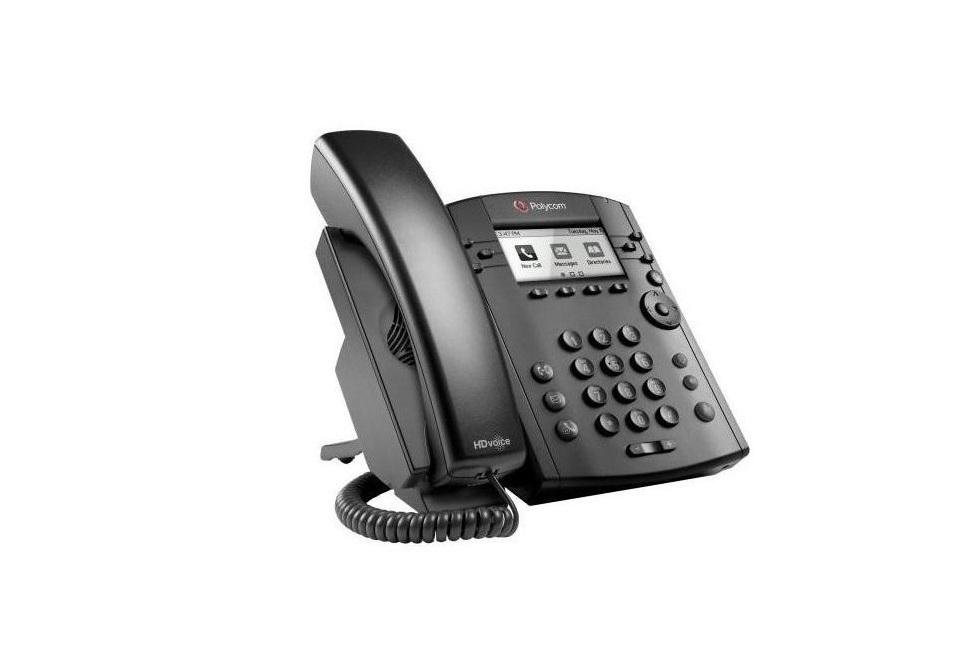 Polycom 2200-46161-025 VVX 310 6-Line Desk Phone (Power Supply Not Included) 2200-46161-025