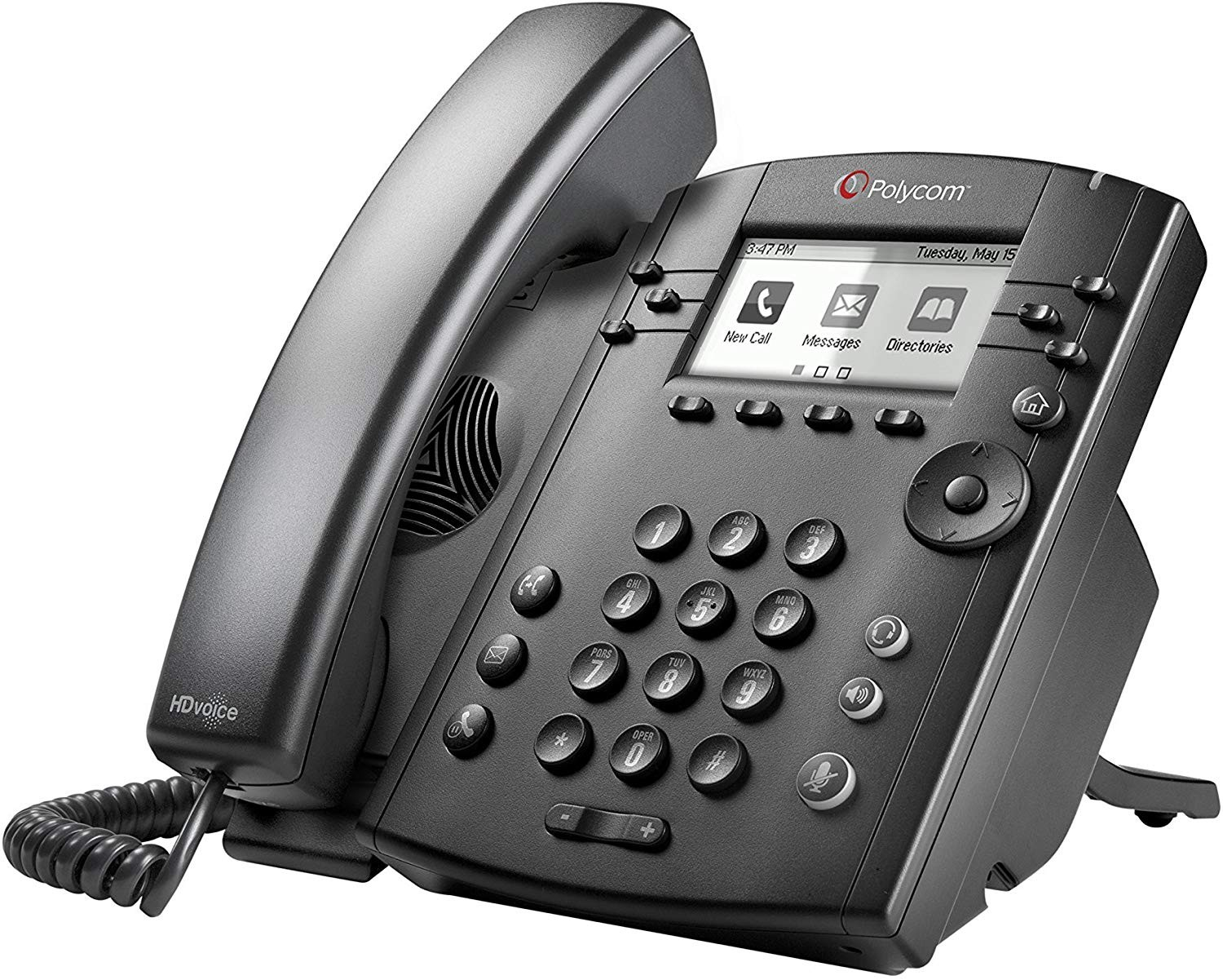 Polycom Vvx 300 Business Poe Ip Phone 2200-46135-025 (Power Supply Not Included)