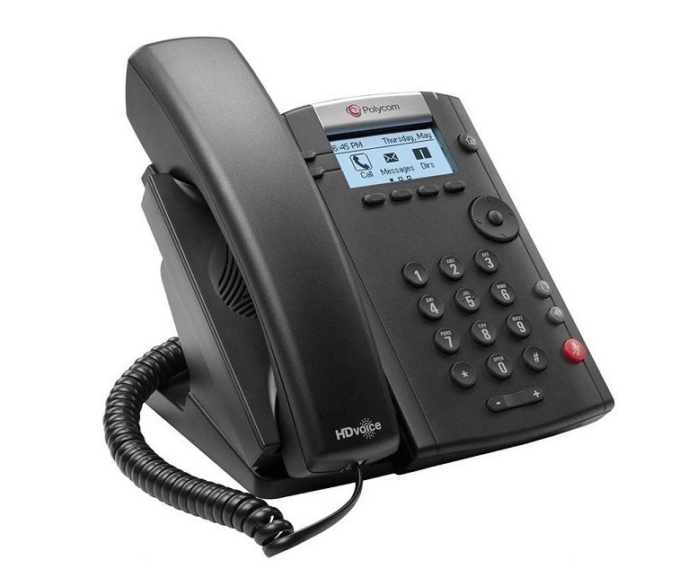 Polycom VVX 201 Two-Line PoE Corded Business Media Phone 2200-40450-019