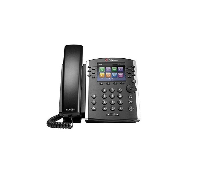Polycom VVX 411 12-Line IP PoE Phone HD Voice 2200-48450-025