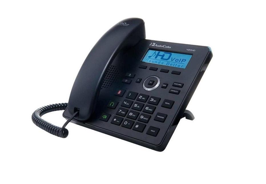 Audiocodes 420HD 2 Line IP Phone Black UC420HDEG