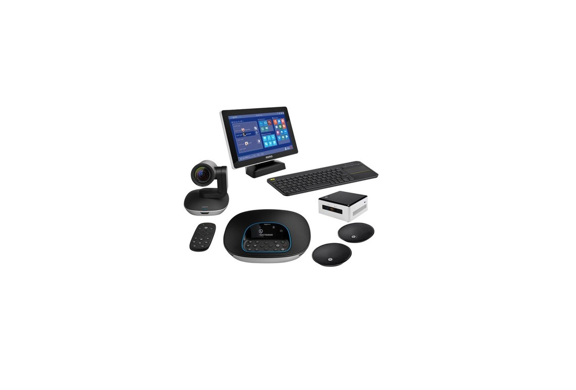 Logitech Premium Group Video Conferencing Kit With Intel Nuc GROUPNUC-MIMO