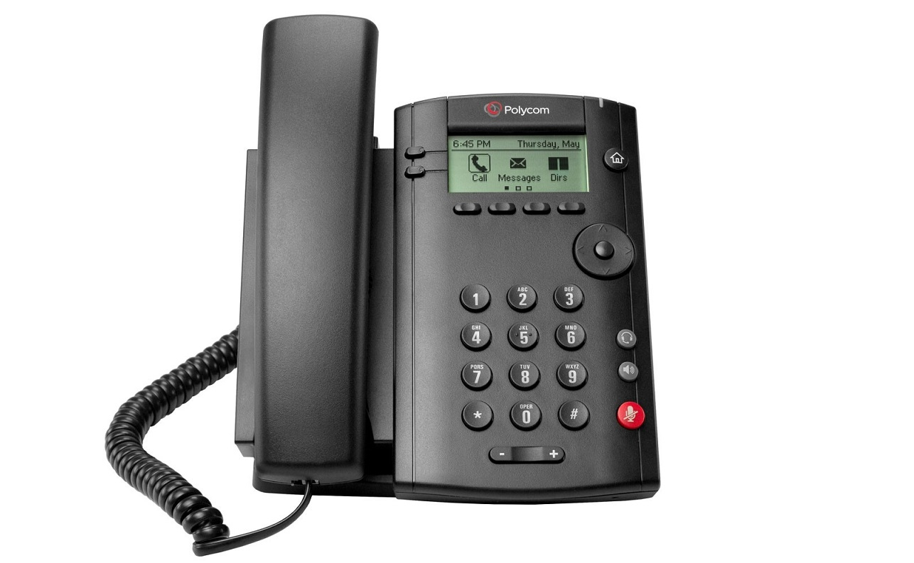 Polycom VVX 101 PoE VoIP Desktop Phone Black 2200-40250-025