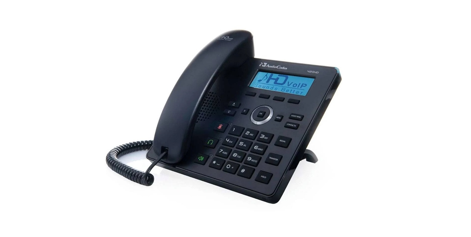Audiocodes 420HD 2-Line GigaBit VoIP Phone Black IP420HDEG