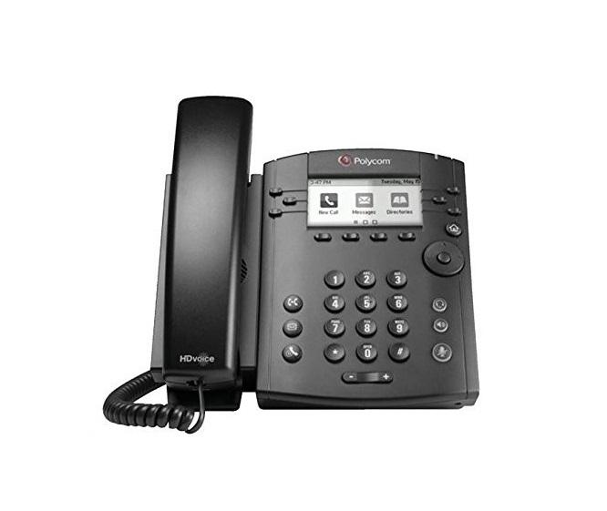 Polycom VVX 311 6-Line Desktop Phone With HD Voice (2200-48350-025) (Renewed)