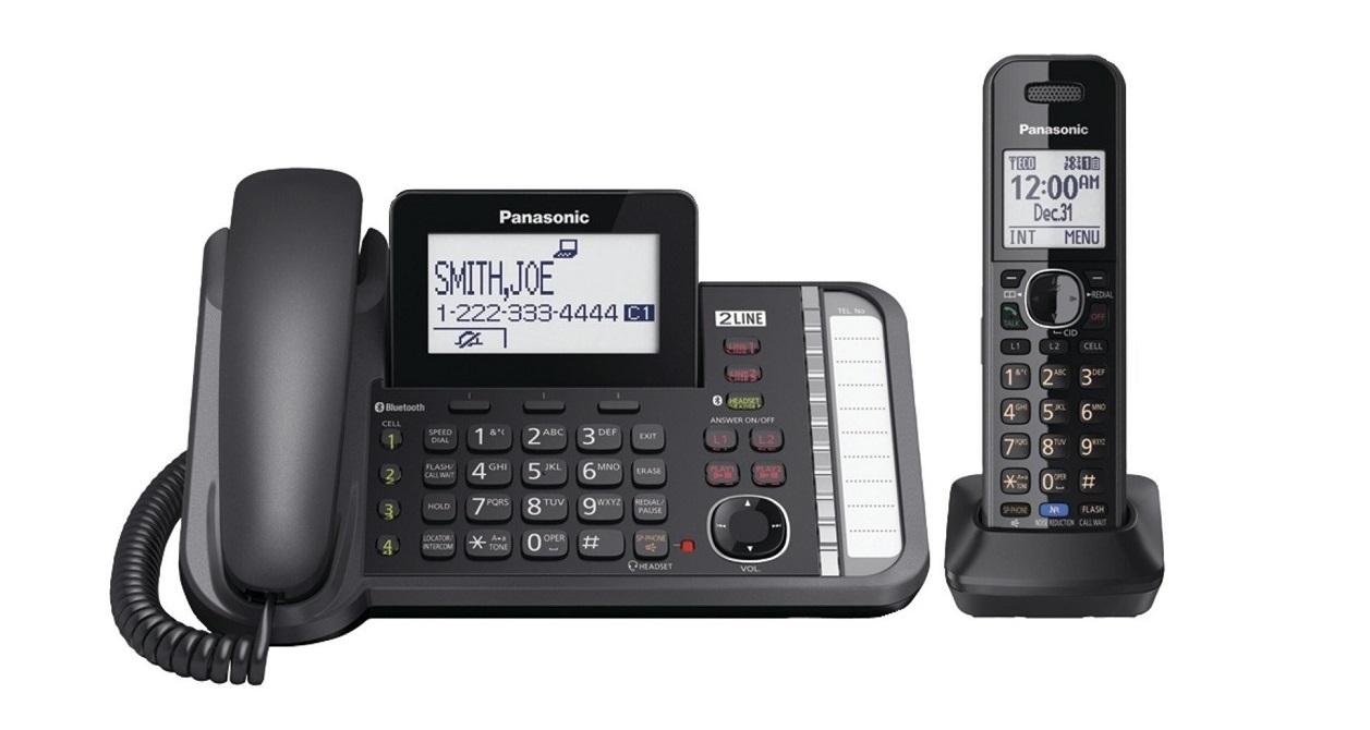 Panasonic 2-line Expandable Dect 6.0 Plus Cordless Phone Black KX-TG9581B