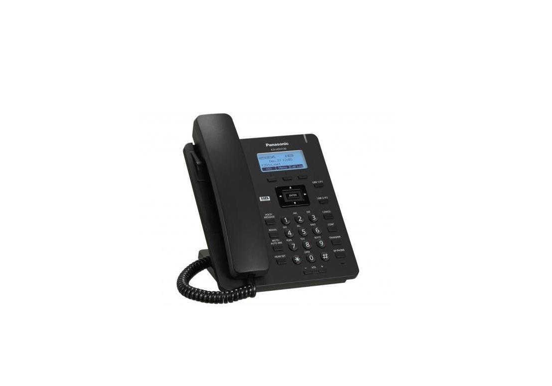 Panasonic KX-HDV130B 2 Lines Voip Phone Black