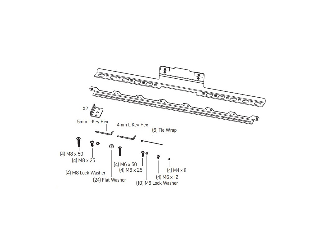 Polycom Studio X50 Display Mounting Kit 2215-86418-001
