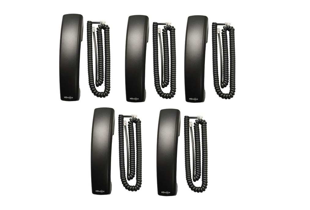 Polycom Vvx X50 Replacement Handsets With Cord 5-Pack 2200-48877-005