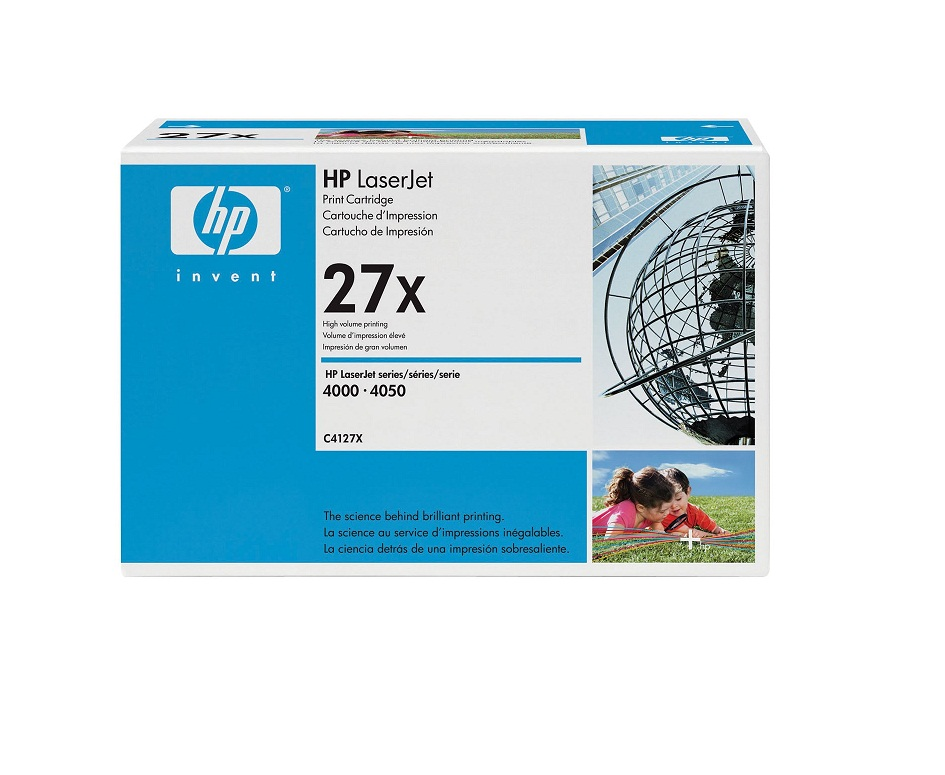 HP 27x Black Toner Cartridge 10000 Pages For LaserJet 4000 4050 Series C4127X