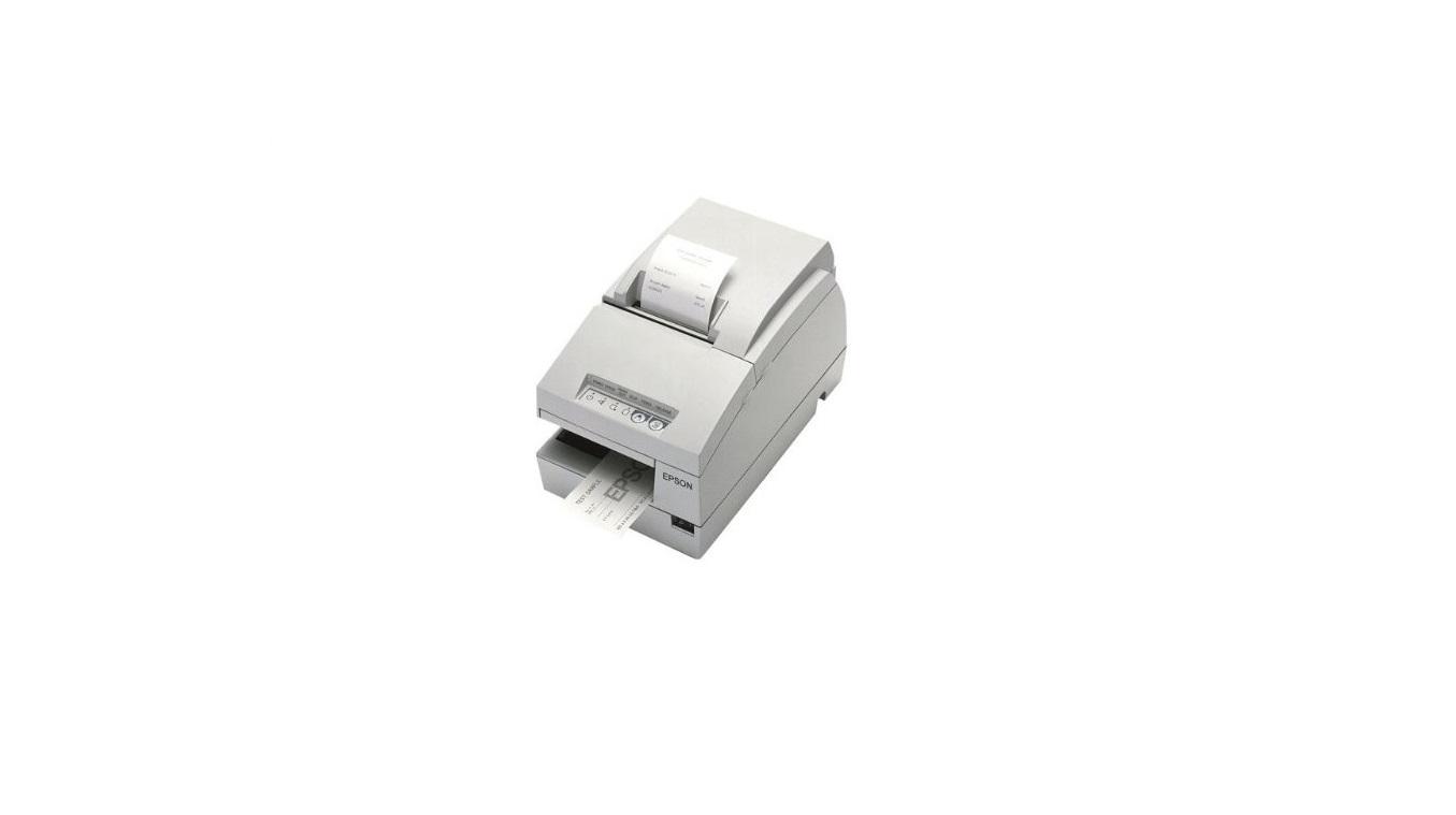 Epson TM U675 Receipt Printer B/W Dot-Matrix (Requires Power Supply) Serial White C31C283012