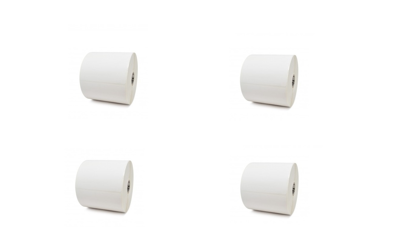 Zebra Z-Select 4000T 4 X 6 Thermal Transfer Paper Label Pack of 4pcs 82868 420 Per Roll 1680 Count