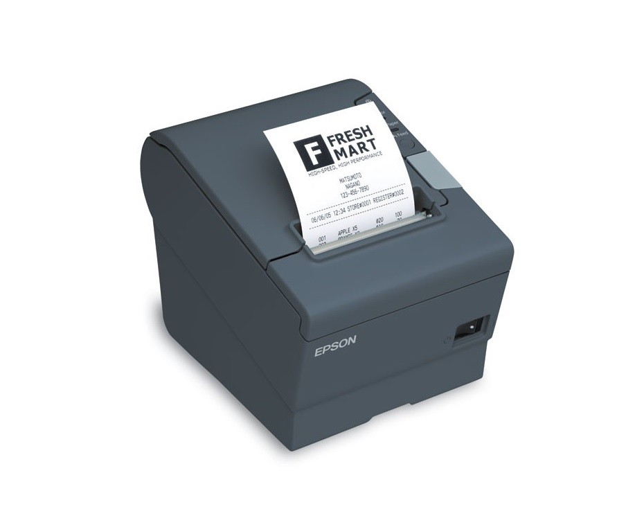 Epson TM-T88V Thermal Receipt Printer Epson Dark Gray PoweredUSB C31CA85090 (Required P/S)