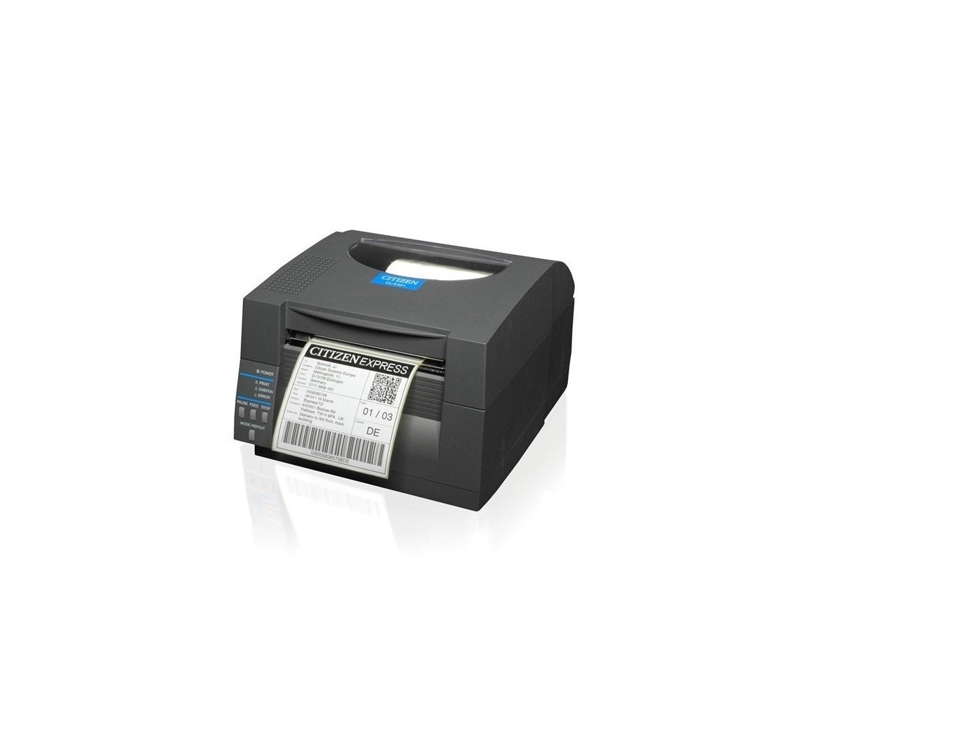 Citizen CL-S521 Direct Thermal Monochrome Printer 203dpi USB Serial Black CLS521GRY CL-S521-GRY