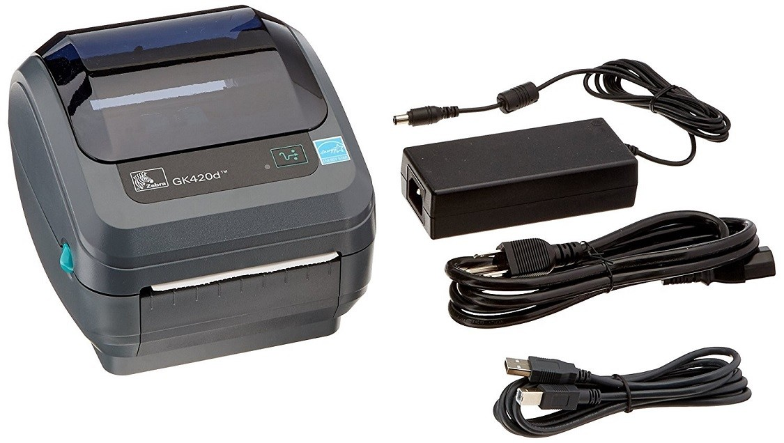 Zebra GK420d Direct Thermal Monochrome Printer 203dpi USB Ethernet GK42-202210-000