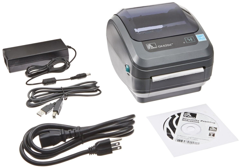 Zebra GK42-202510-000 GK420d Direct Thermal Monochrome Printer 203dpi Serial Parallel USB (Sealed)