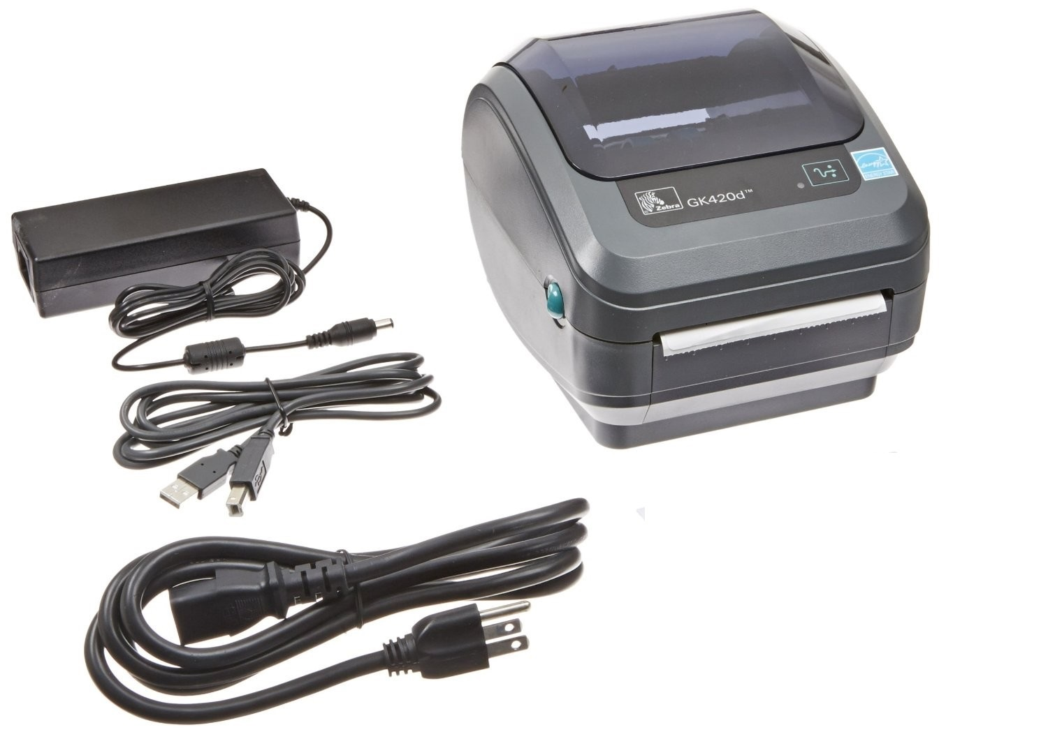 Zebra GK420d Direct Thermal Monochrome Printer 203dpi Serial Parallel USB GK42-202510-000