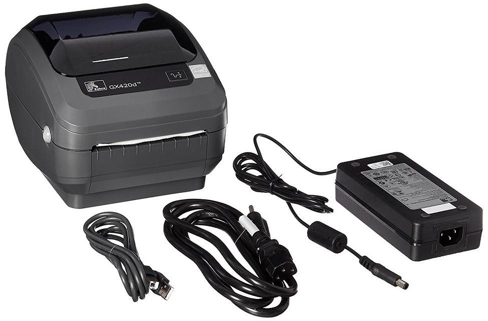 Zebra GX420d Direct Thermal Monochrome Printer 203dpi Serial USB Ethernet GX42-202410-000