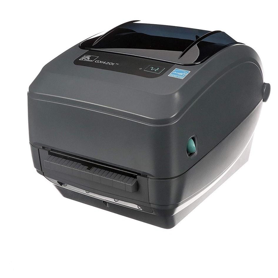 Zebra GX420T Direct Thermal Transfer Monochrome Label Printer Ethernet Serial USB GX42-102411-000