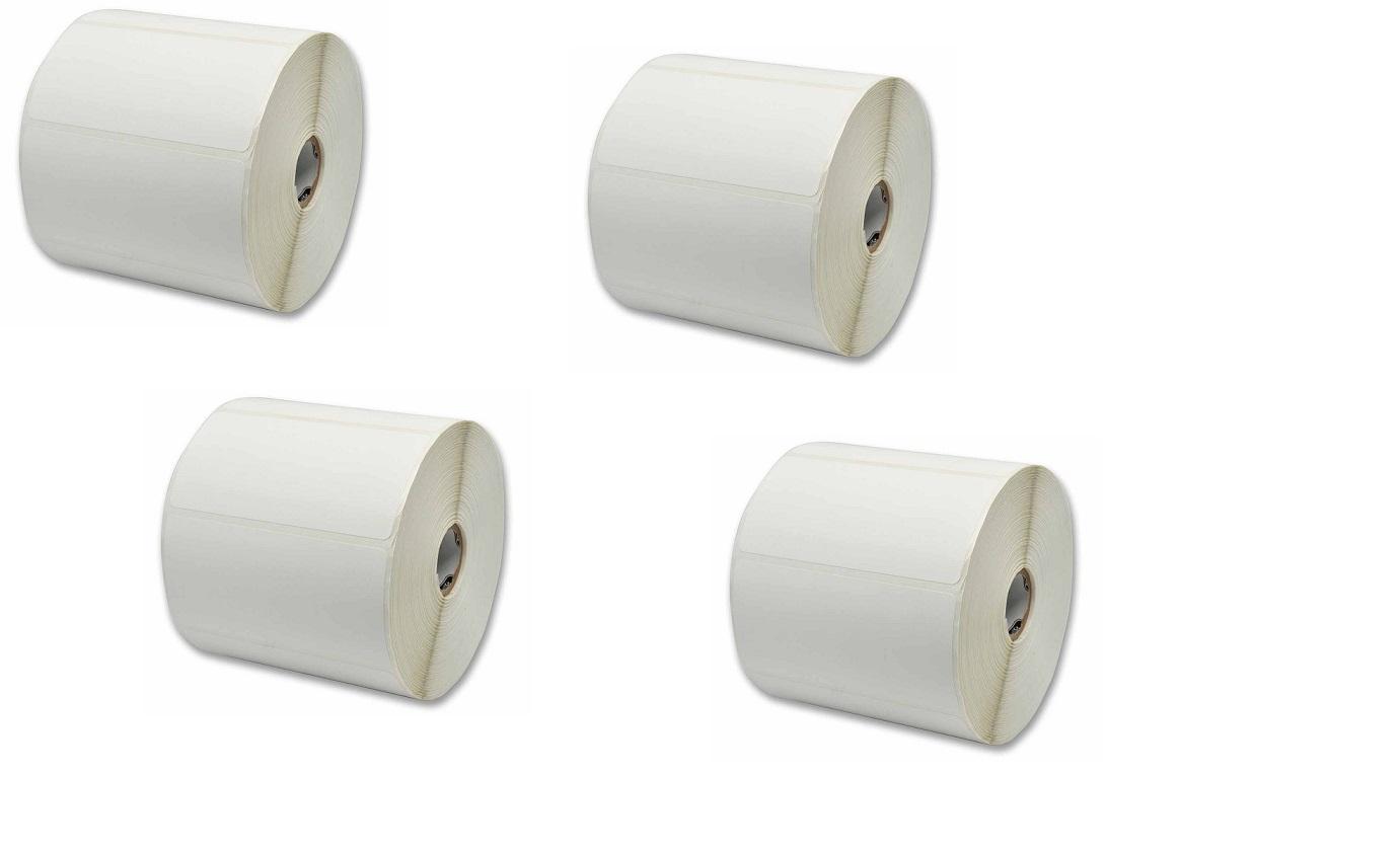 Zebra Genuine 10010059 8000D Near-IR 4x2.25 DT Paper Label 4-Pack