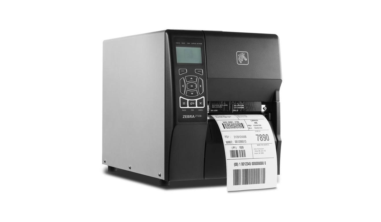 Zebra ZT230 ZT23043-T01200FZ 300dpi Mono TT Serial USB LAN Label Printer (New Sealed)