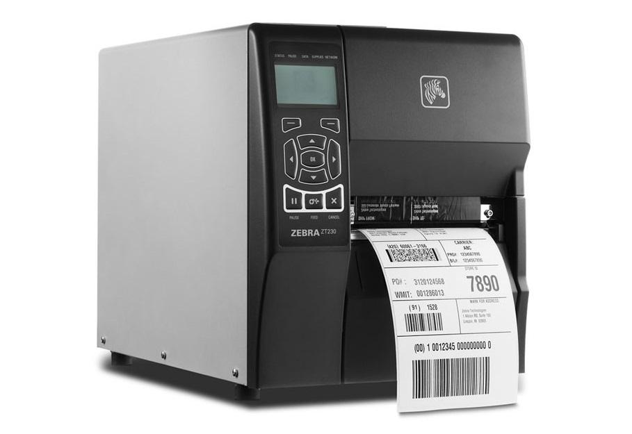 Zebra ZT230 ZT23043-T01200FZ 300dpi TT Serial USB LAN Label Printer (New Unused)