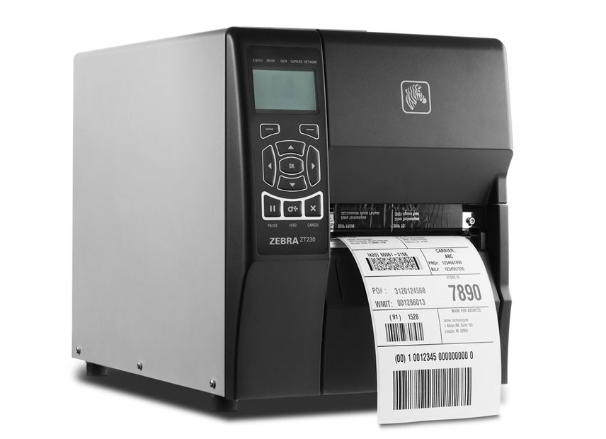 Zebra ZT230 Thermal Monochrome BarCode Label Wireless Printer 203dpi Wi-Fi USB Serial ZT23042-D01A00FZ
