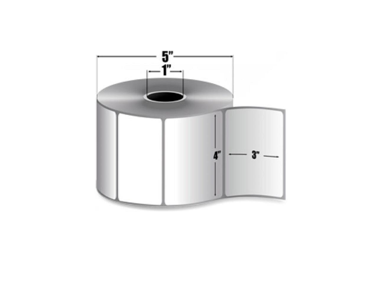 Zebra Genuine Z-Select 4000D Direct Thermal Label White Paper 930/Roll 4x3 Zebra 12-Pack 10015344