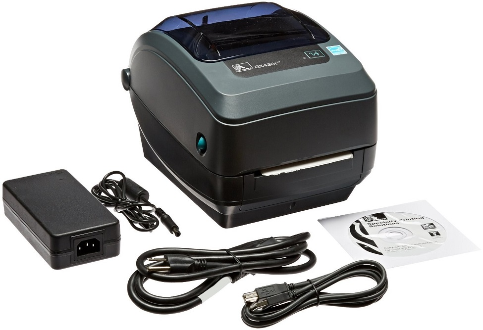 Zebra GX430t Thermal Transfer Monochrome Printer 300dpi Parallel Serial USB GX43-102510-000