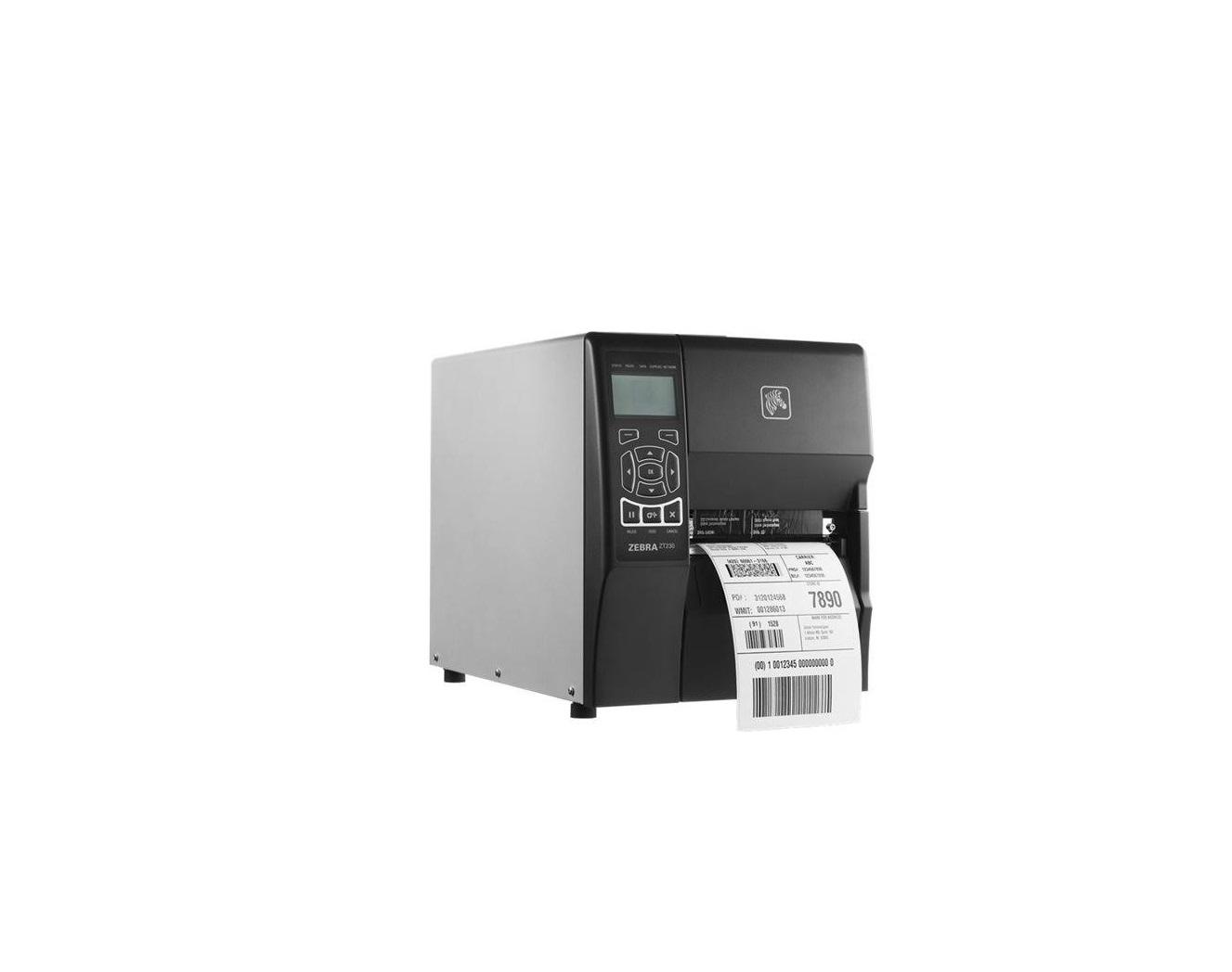 Zebra ZT230 Direct Thermal Transfer Monochrome Label Printer LCD 203dpi 802.11N Serial USB ZT23042-T01A00FZ