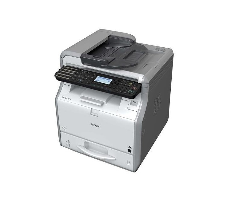 Ricoh SP 3610SF B/W MultiFunction Mono Printer Duplex Ethernet USB 407305