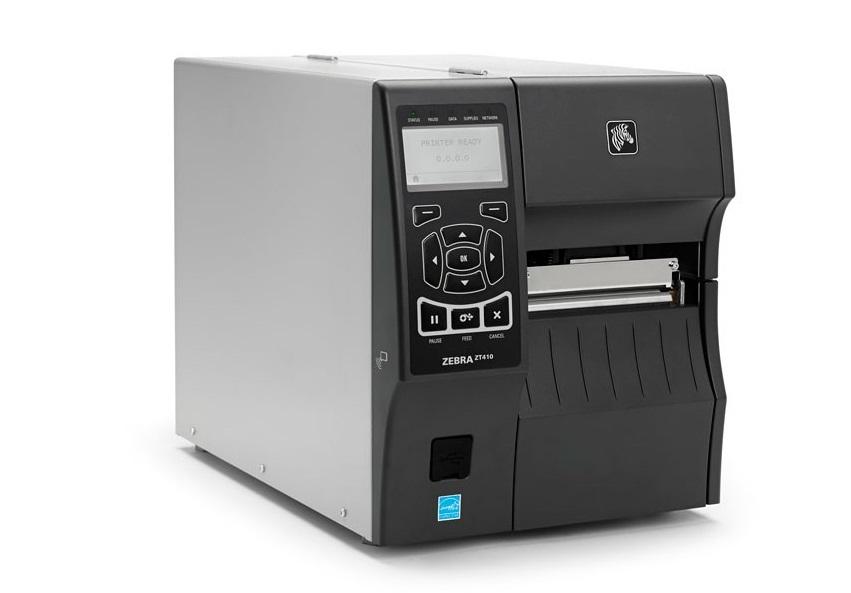 Zebra ZT410 Thermal Transfer Monochrome Label Printer 203dpi Serial USB Ethernet ZT41042-T010000Z
