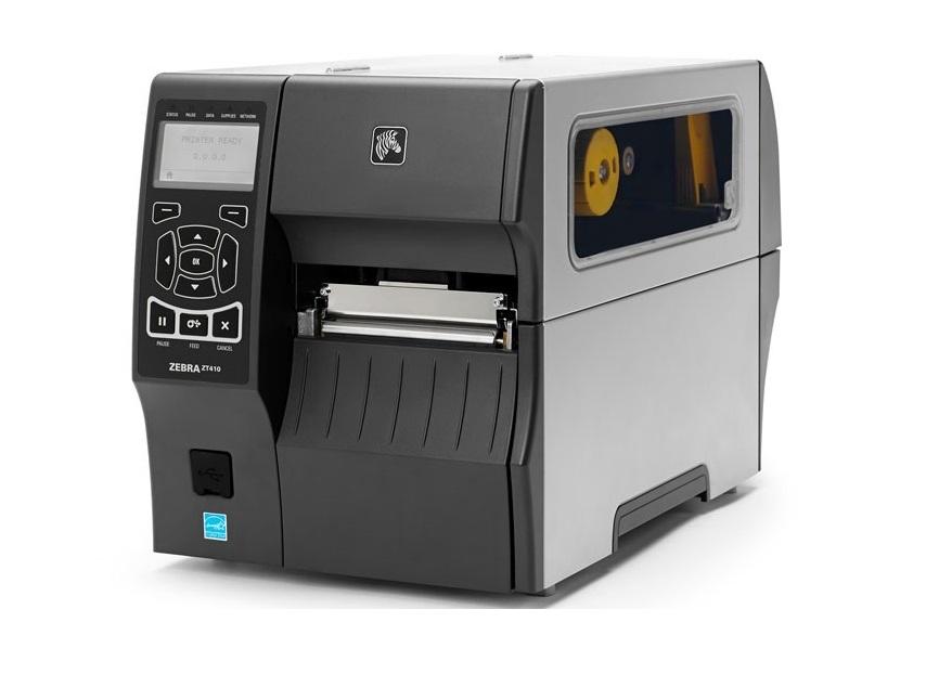 Zebra ZT410 Direct Thermal Transfer Monochrome Label Printer BlueTooth 600dpi ZT41046-T010000Z USB Ethernet