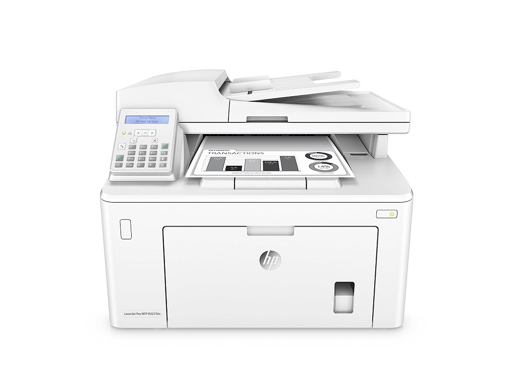HP LaserJet Pro MFP Laser M227FDN Printer Copier Scanner Fax Ethernet G3Q79A#BGJ Demo 6 Pages Used