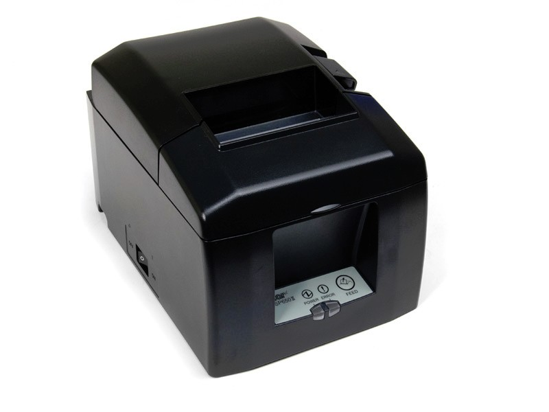 Star Micronics 39481270 TSP650II Series 203dpi Thermal Label Printer w/ Cutter BlueTooth Black 39481270