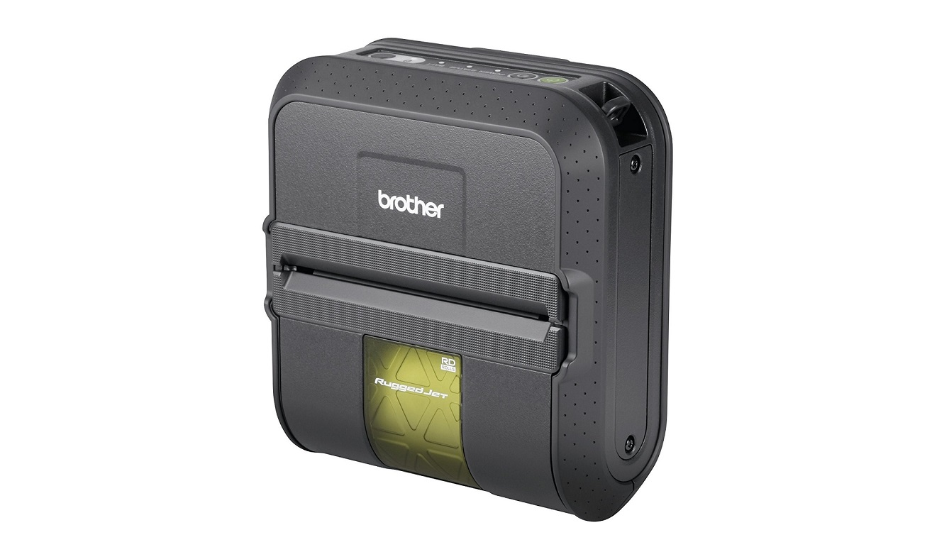 Brother Ruggedjet RJ-4040 Portable Monochrome Direct Thermal Label Printer Only
