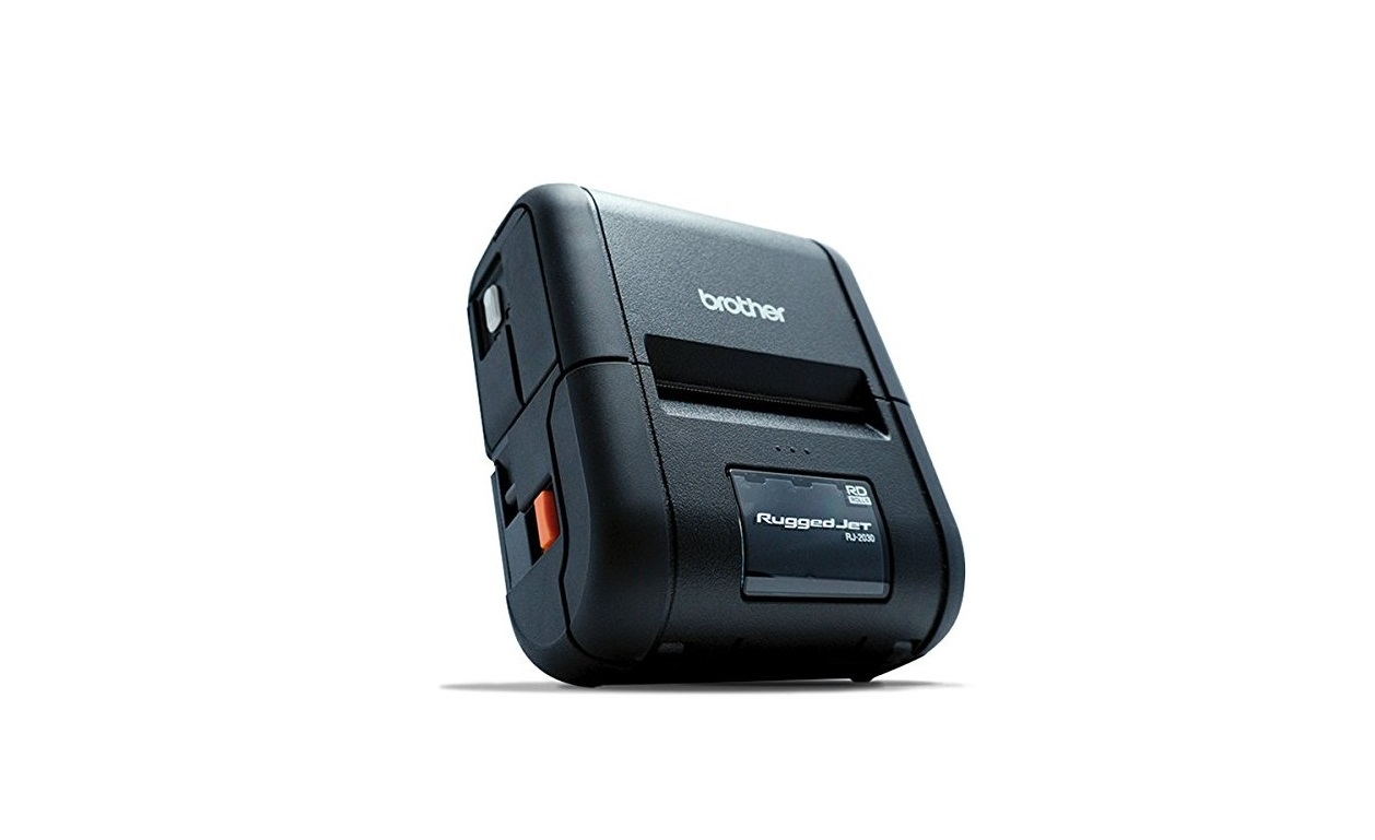 Brother RJ-2050 203dpi 6ips IP54 USB BlueTooth Wireless Portable BarCode Printer RJ2050