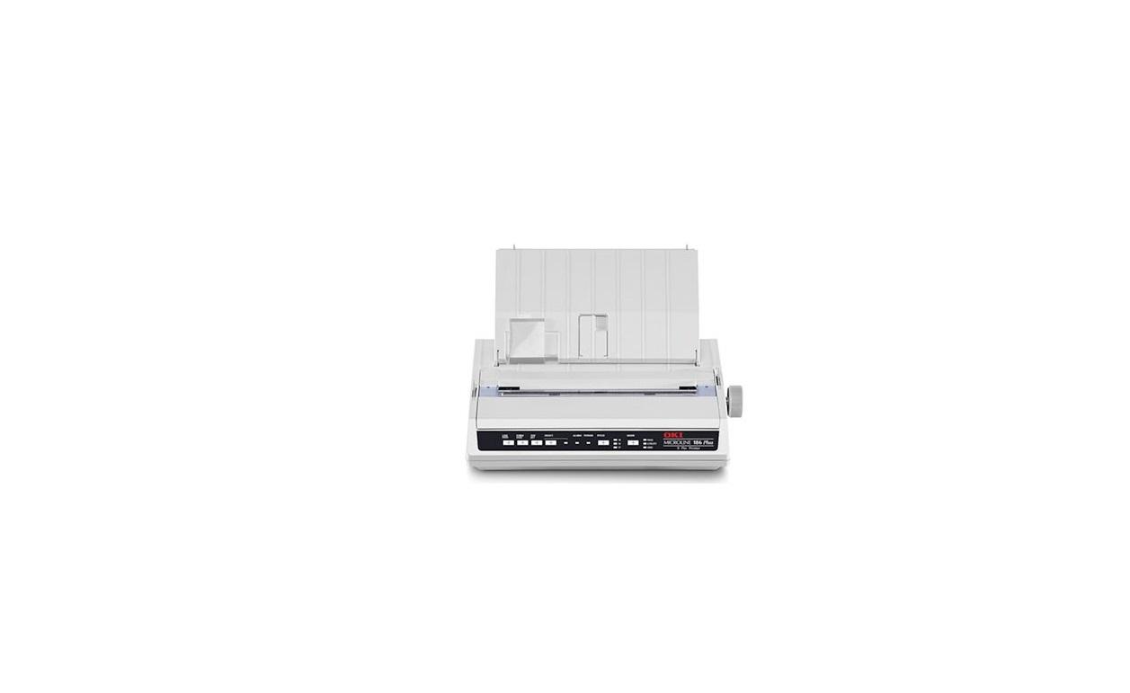 OKI Microline 186 Plus Parallel USB Monochrome Dot Matrix Printer 62448501