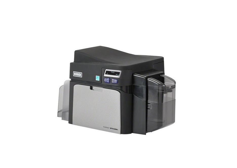 Fargo HID DTC4250e Dual-Sided ID Card Printer USB Ethernet 52116 052116