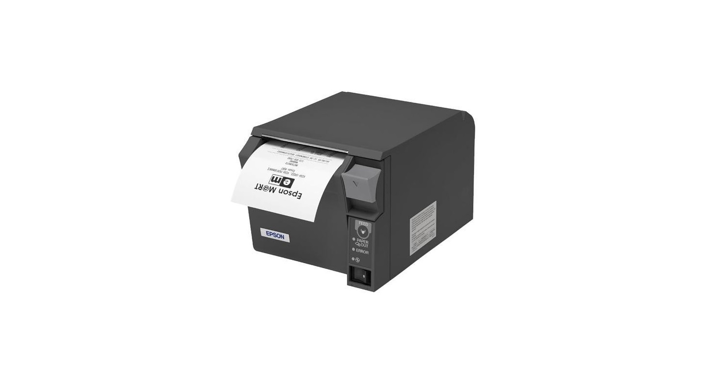 Epson C31CD38A9991 TM-T70 II USB Mono Receipt Printer Gray Req P/S
