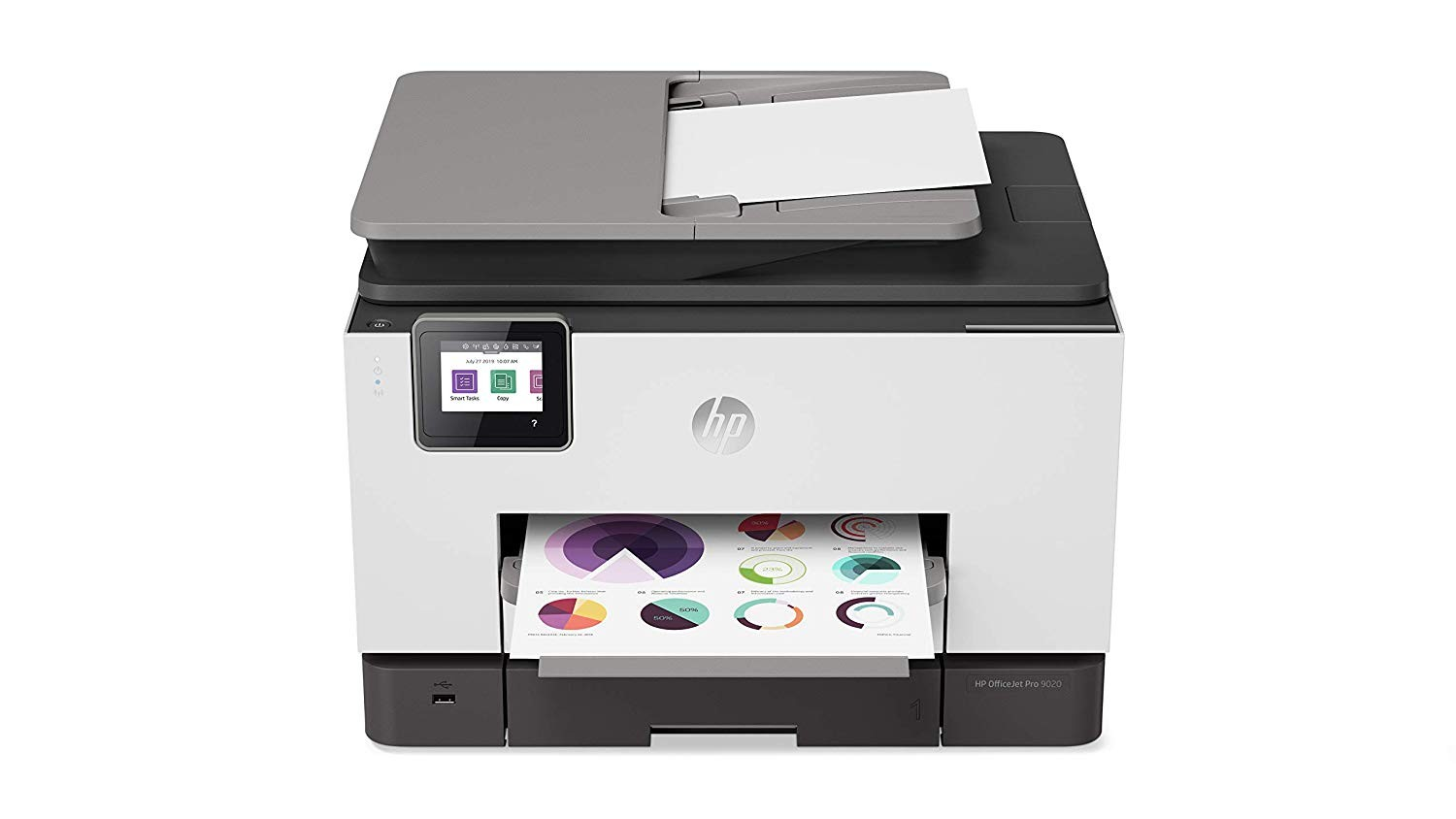 HP OfficeJet Pro 9020 All-in-One Wireless Color Ink-Jet Printer 1MR78A#B1H