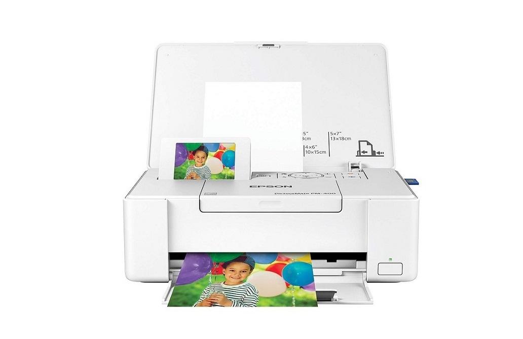 Epson PictureMate PM-400 Photo Lab Compact Wireless USB Color InkJet Printer White C11CE84201