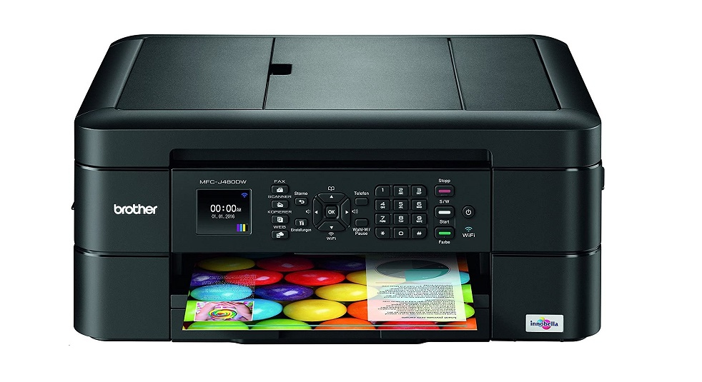 Brother MFCJ480DW Compact Color USB Wireless Duplex All-in-One InkJet Printer MFC-J480DW