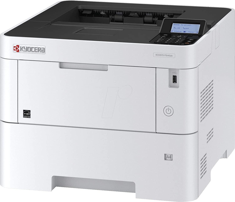 Kyocera Wireless Ecosys P3145dn Duplex Usb Lan Mono Laser Printer 1102TT2US0 (Demo 15 Pages Used)