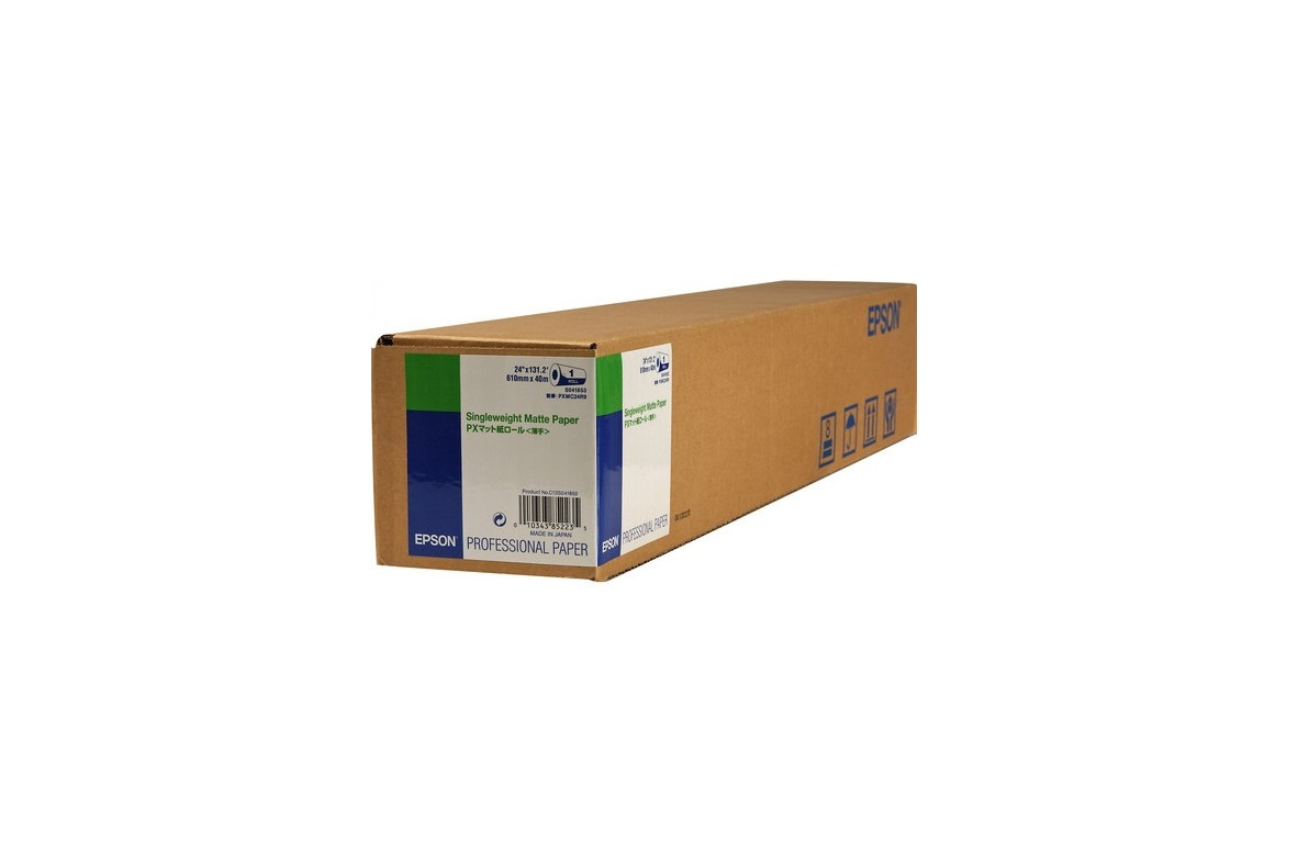 Epson 24x131.7' Singleweight Matte Inkjet Paper Roll C13S041853