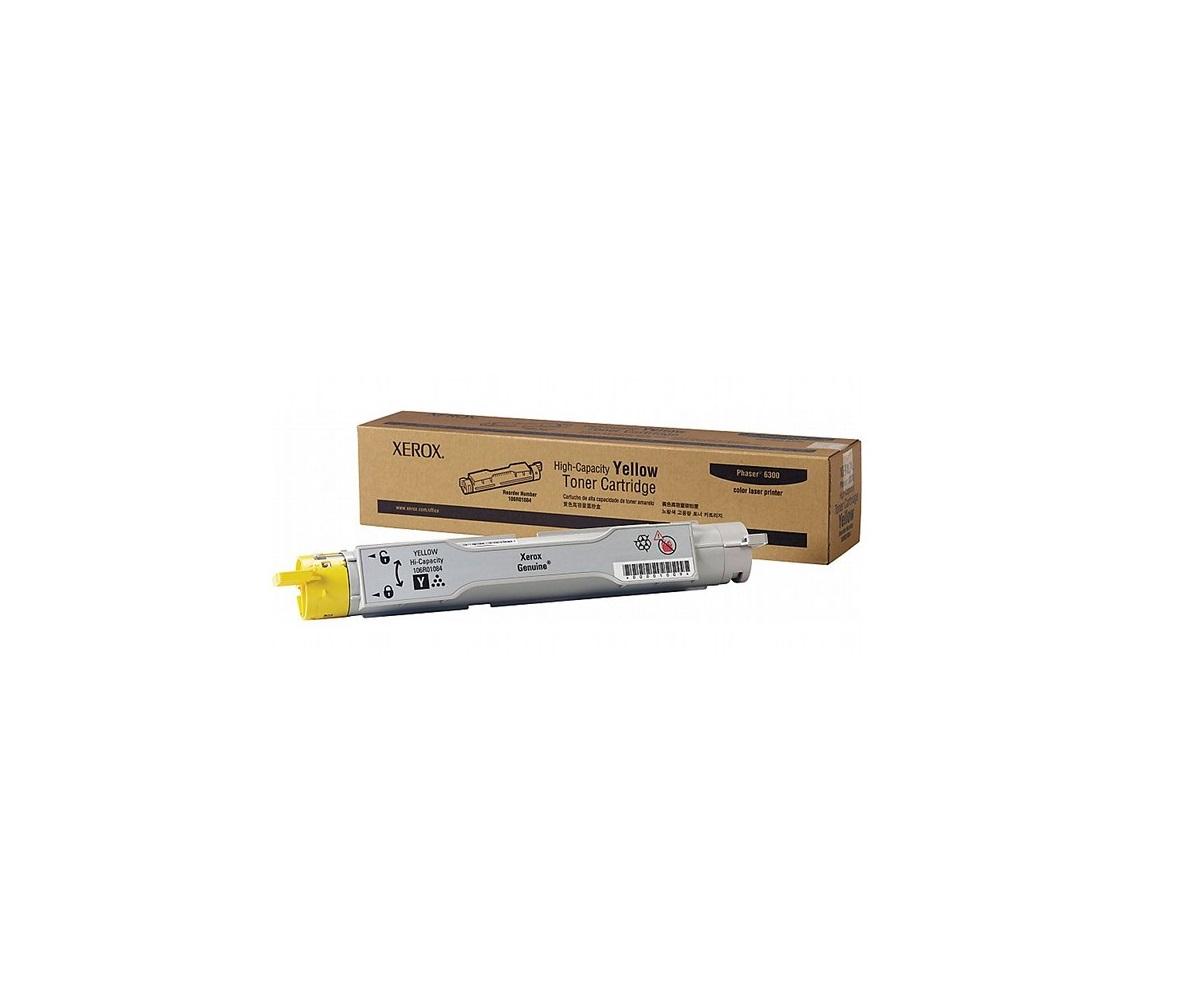 Xerox Genuine Phaser 6300 Only Toner Cartridge Yellow 1-Pack 106R01084